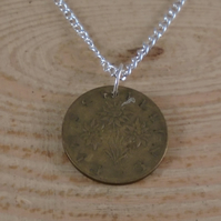 Upcycled Schilling Coin Necklace SPN091907