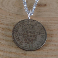 Upcycled Shilling Necklace SPN091908
