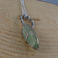 Upcycled Silver Plated Stone Spoon Handle Necklace SPN101912