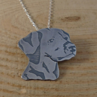 Sterling Silver Dalmatian Necklace