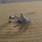 Upcycled Silver Plated Sugar Tong Claw Ring SPR042013