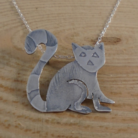 Sterling Silver Lemur Necklace