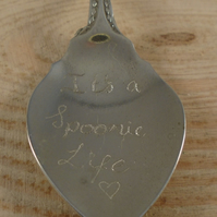 Upcycled Silver Plated 'It's a Spoonie Life' Engraved Spoon Necklace SPN062005