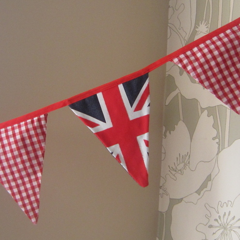 Cool Britannia Union Jack Bunting. 3 meters