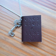 Story book necklace, Once Upon A Time, mini book jewellery