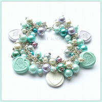 In the Blue Retro Sweetie Charm Bracelet