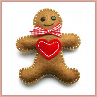 Big Heart Gingerbread Man