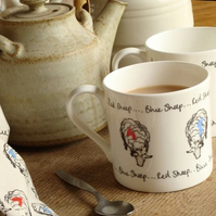 Red Sheep, Blue Sheep Mug