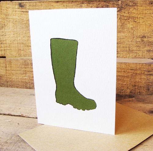 Green Welly Card