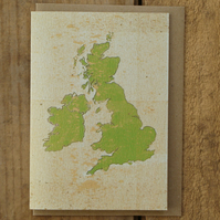 British Isles Map Card