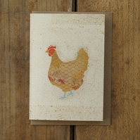 Speckled Hen Card