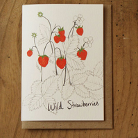 Wild Strawberries Card