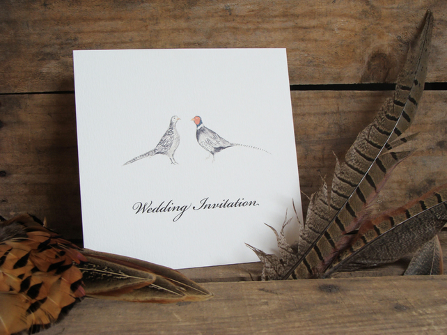 Pheasants Wedding Invitations