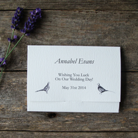 Bespoke Printed Wedding Favour and Place Setting