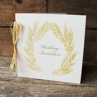 Golden Corn Wedding Invitations