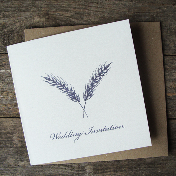 Double Corn Motif- Wedding Invitations