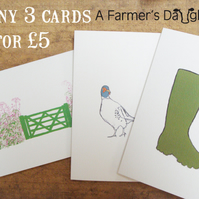 Any Three 'A Farmer's Daughter' Cards