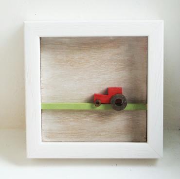 Wooden Red Tractor box frame