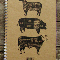Large Buff Meat Cuts notebook