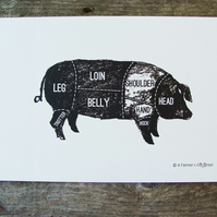 Pork Meat Cuts Print