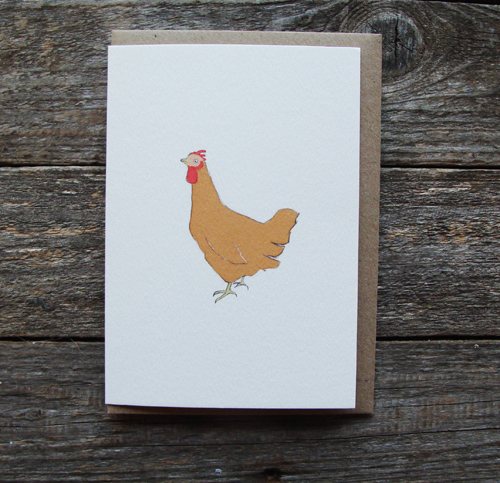Brown Hen Card