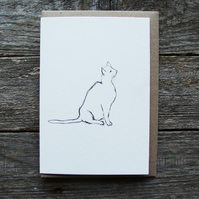 Sitting Cat Card