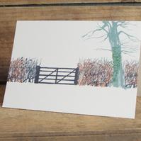 Winter Hedgerow Card