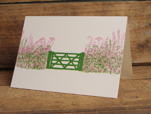 Summer Hedgerow Card