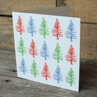 Christmas Fir Trees Cards (Bundle of 5)