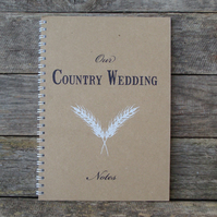 Our Country Wedding Notebook