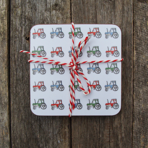 Tractors Coasters (set of 4)