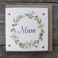 Mum honeysuckle Card