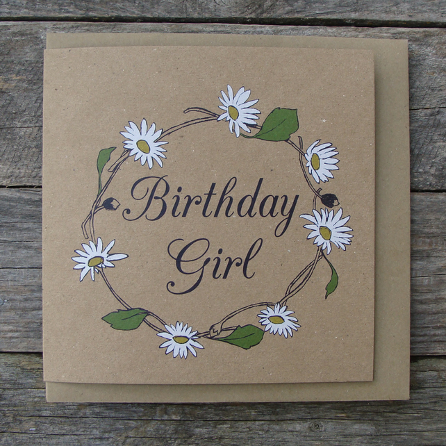 Daisy Chain Birthday Girl Card