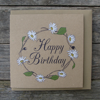 Daisy Chain Birthday Card