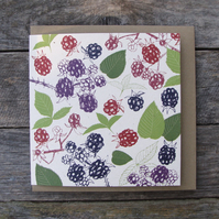 Blackberries Card