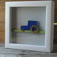 Wooden Blue Tractor box frame
