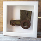 Folky wooden Tractor picture - box frame