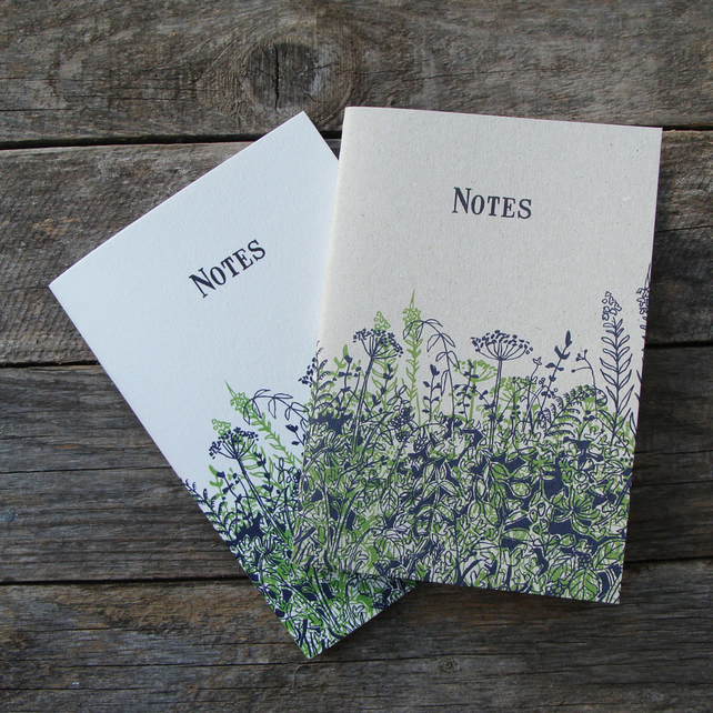 Blue and Green Hedgerow Notebooks