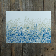A4 sized Hedgerow Print