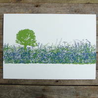 Hedgerow and Tree Print
