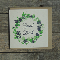 Lucky Clover Good Luck Card