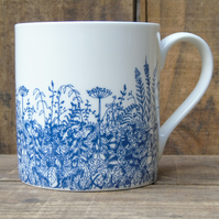 Blue Hedgerow Mug