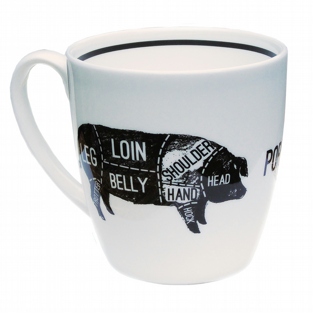 Pork Cuts- Bone China Mug