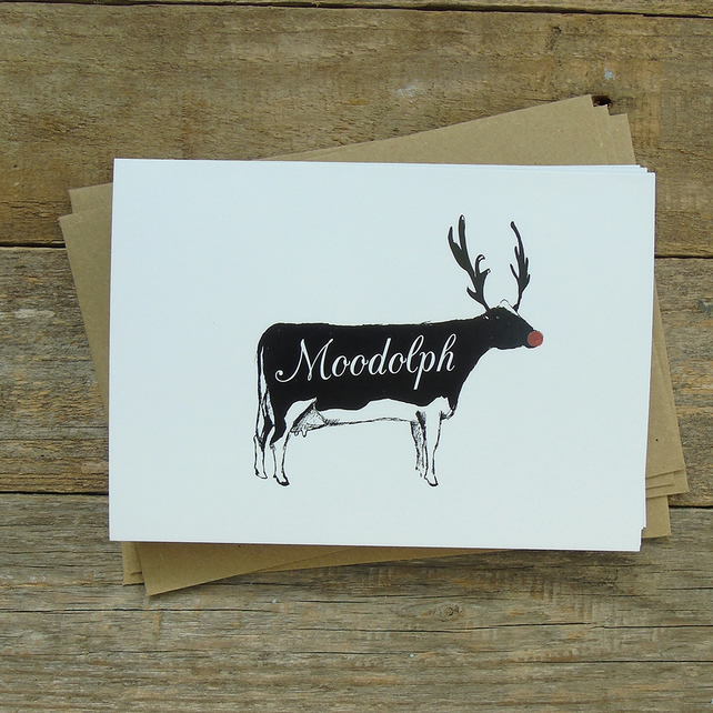 Moodolph Christmas Cards- Pack of 5