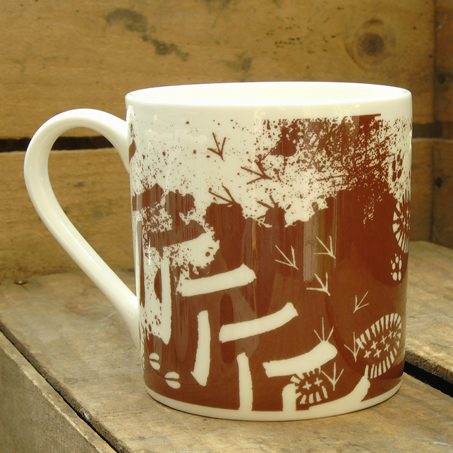 Bone China Muddy Mug