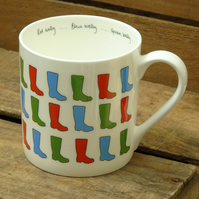 Bone China Wellies Mug