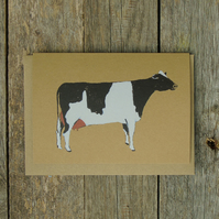 Rustic Friesian Cow Card