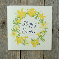 Easter Daffodil Wreath Card