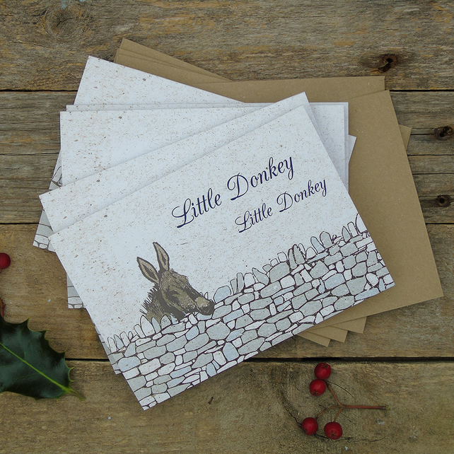 Little Donkey Christmas Cards (pack of 5)