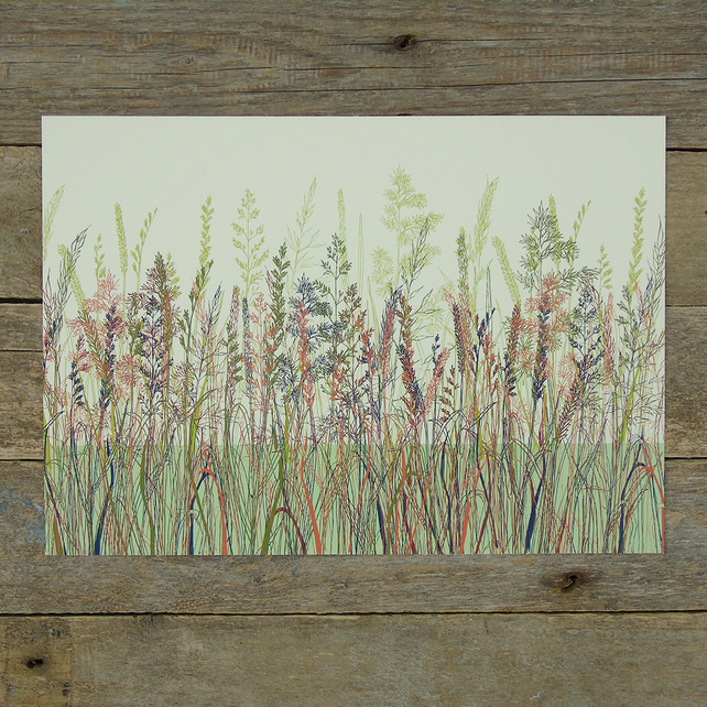 Unframed Meadow Grass Print